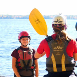 Kids Week Safety Briefing National Whitewater Park Wilderness Tours Ottawa Kayak School